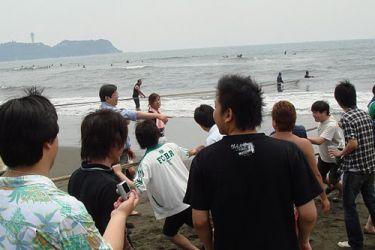 【イベント】鵠沼海岸 地引網